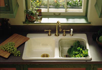 Classic Two-Bowl Cast-Iron Sink