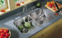 Two-Bowl Undermount Stainless-Steel Sink