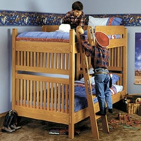 Arts and Crafts Bunk Bed Woodworking Plan - Product Code DP-00044