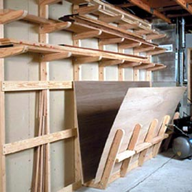 Lumber Storage Rack Woodworking Plan - Product Code DP-00135