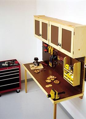 Space-Saving Work Center Woodworking Plan - Product Code DP-00168