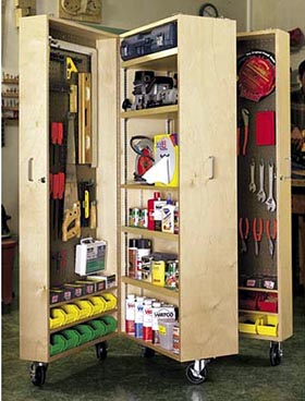 Mobile Tool Cabinet Woodworking Plan - Product Code DP-00260