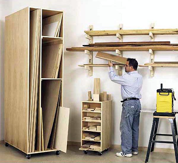Triple-Threat Storage for Lumber, Scraps, and Sheet Goods Woodworking Plan - Product Code DP-00438