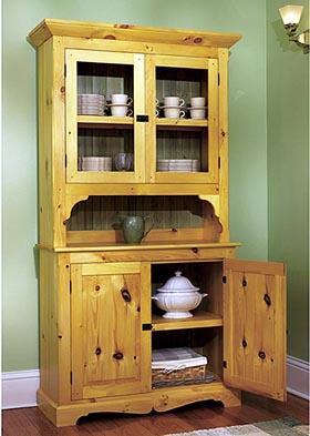 Heirloom Pine Hutch Woodworking Plan - Product Code DP-00453