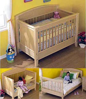 3-in-1 Bed for All Ages Woodworking Plan - Product Code DP-00524