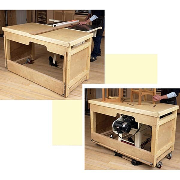 Plan Dp 00553 Space Saving Double Duty Tablesaw Workbench Woodworking Plan