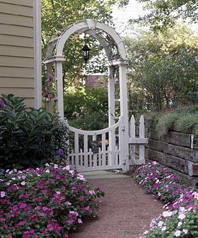 Garden Gateway Arched Arbor - Project Plan 503506