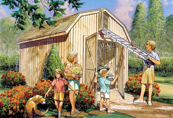 Yard Barn with Loft Storage  - Project Plan 85921