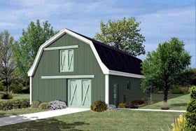 Pole Building - Horse Barn with Loft  - Project Plan 85942