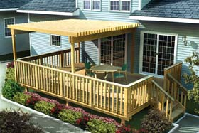 Large Easy Raised Deck w/ Trellis - Project Plan 90003
