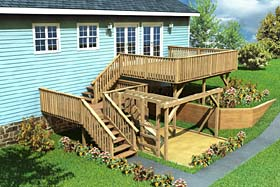 Split-Level Deck & Play Area - Project Plan 90007