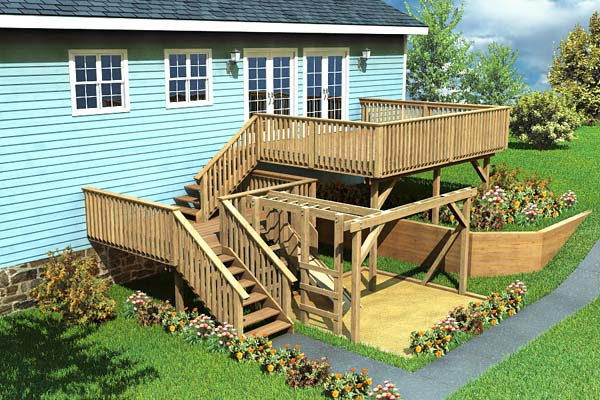 Split-Level Deck & Play Area - Project Number 90007