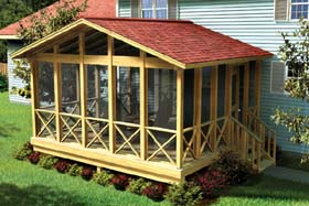 Covered Screen Porch