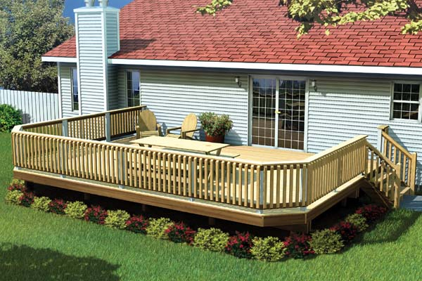 Fancy Raised Deck - Project Plan 90032