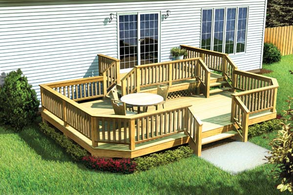 Two-Level Deck w/ Angle Corners - Project Number 90042